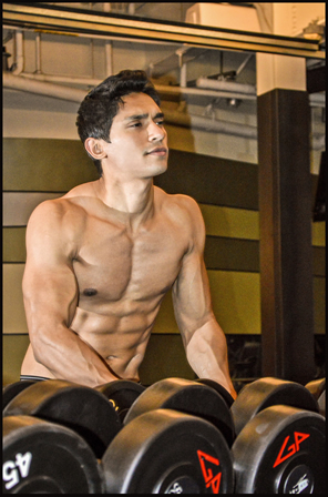 priyom haider gym shirtless