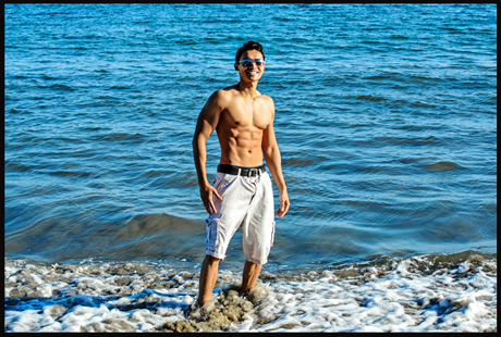 priyom haider beach shirtless